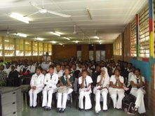 Grade XI Learners attending Motivation Class conducted by Swami Vimokshananda