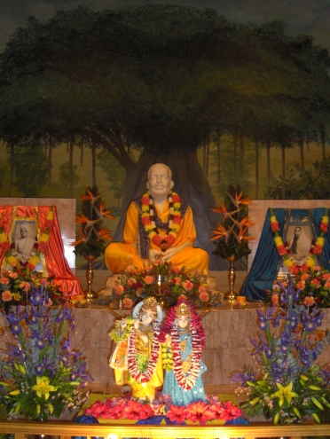Radhakrishna at Temple altar of Ramakrishna Centre of South Africa, Durban