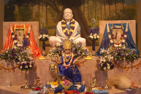 Shrine in the Ramakrishna Temple at HQ