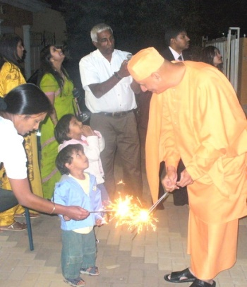Diwali festival with child devotees of Johannesburg