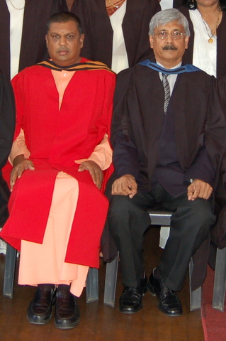 Deputy Dean Vijaynand Mohanlal with Dean Swami Saradaprabhananda