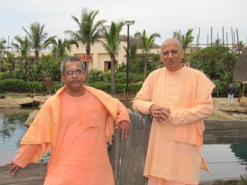 The visiting Swami with the resident Swami
