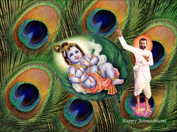 The Yuga avataars - Sri Krishna and Ramakrishna, Courtesy: Dr S Adhinarayanan, New Delhi, India