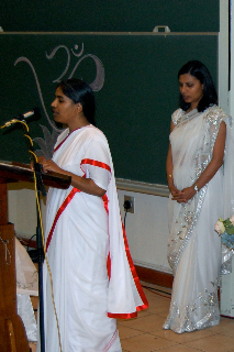Sister Avintha saying opening prayers...
