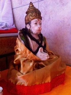 Sri Hanumanji as worshipped in homes