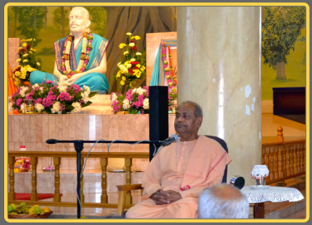 "Swami Sarvatmanandaji speaking on ""Shri Krishna's Assurance to humanity""..."