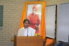 Sister Avintha speaking on practice of Japa...