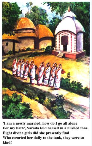 Ashtalakshmis accompanying Ma Sarada