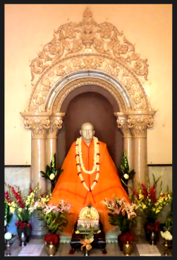 The marble image of Swami Brahmananda in Belur Math