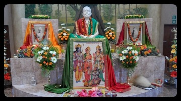 Sri Ramakrishna altar near view