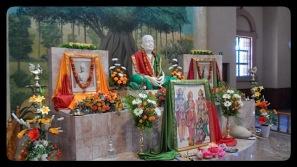 Sri Ramakrishna altar side view