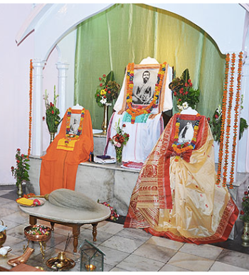 The beautiful shrine of Kanpur ashram