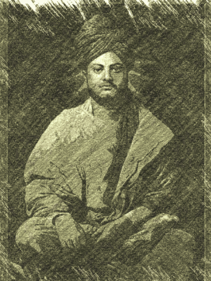 Pencil sketch of Swamiji